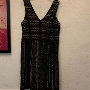EUC Loft black eyelet lace dress